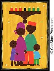 Kwanzaa Design - Decorative Kwanzaa greeting card with...