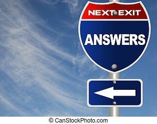 Answers road sign