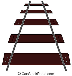 train tracks illustration