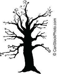 tree winter vector silhouettes