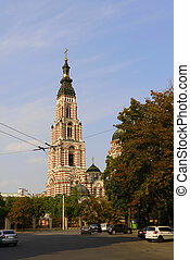 Bell tower of the Cathedral of the Annunciation in Kharkov