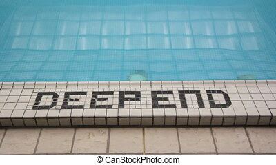 Deep end of the pool No diving