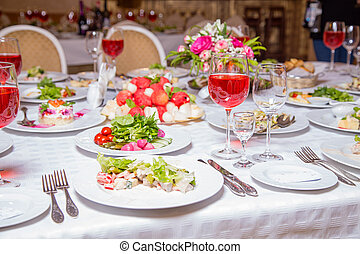 Photo of feast - tablewear and meal, interior photo