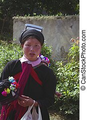 Young woman ethnic black Dao