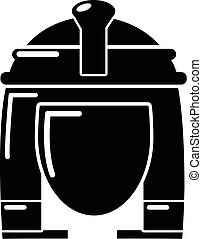 Cleopatra icon, simple black style - Cleopatra icon. Simple...