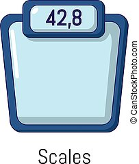 Scales icon, cartoon style - Scales icon. Cartoon...