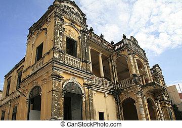 Colonial Architecture in Phnom Penh, Cambodia