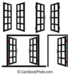window and door black illustration
