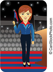 Politician - Female politician illustration