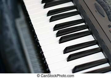 piano - abstract scene keys of piano as musical background