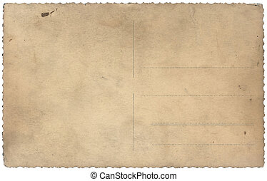 old vintage postcard isolated