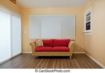 Sunroom Interior with Loveseat - modern home sunroom...