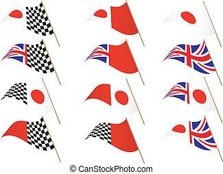 UK and Japanese Flag