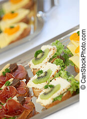 Various appetizers - appetizers - close-up
