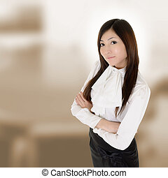 executive - Attractive modern executive of Asian woman in...