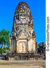Ruins in Wat Mahathat, historical park which covers the...