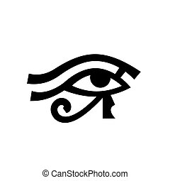 Horus eye (Wadjet), Eye of Ra. Antique Egyptian hieroglyphic...