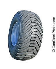 Truck wheel - New Truck wheel on the white background