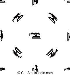 Fret saw pattern seamless black - Fret saw pattern repeat...