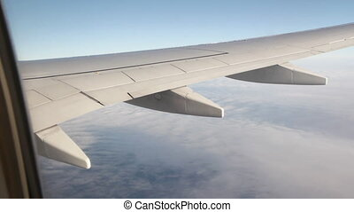 Passenger jet in flight Wide - Passenger jet in flight View...