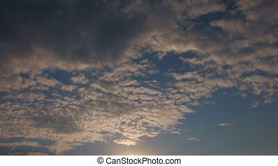 blue sunset sky with clouds, Canon XH A1, Full video, 1080p,...