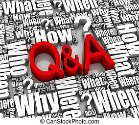 Questions and Answers - Group of Q&A related 3D words. Part...