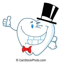 Happy Winking Gentleman Tooth
