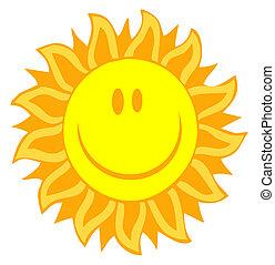 太陽, 臉, 由于, 花瓣, 相象, 光線