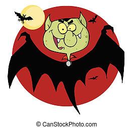 Flying Vampire By Bats
