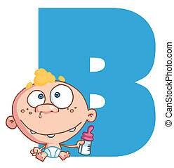 Letter B With A Baby