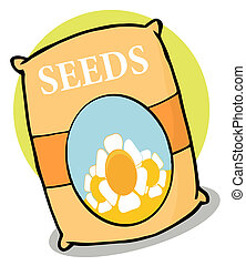 Packet Of Flower Seeds Cartoon Character