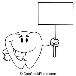 Tooth Blank White Sign