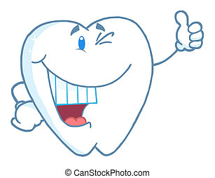 Happy Smiling Tooth Cartoon