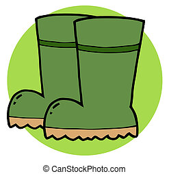 Green Gardeners Rubber Boots - Gardening Tool-Pair Of Green...