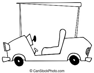 Outlined Golf Cart