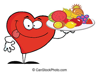 Red Heart Carrying A Fruit