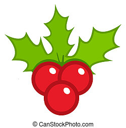 Christmas Holly - Happy Christmas Holly Berries And Leaves