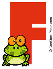 Letter F With A Frog