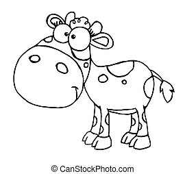 Outlined Baby Cow