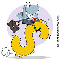 Successful Business Shark