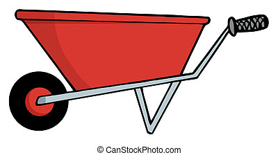 Red Gardening Wheel Barrow - Gardening Tool-Red Gardening...