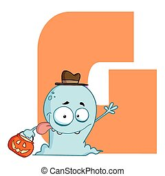 Letter G With A Ghost