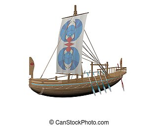Old merchant ship - 3D rendering - Old merchand ship on it...