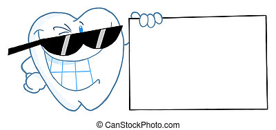 Smiling Tooth Cartoon Character