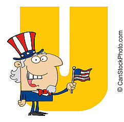 Letter U With Uncle Sam