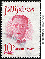 Mariano ponce - PHILIPPINES - CIRCA 1970: A stamp printed in...