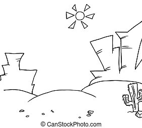 Coloring Page Outline Of Landscape - Coloring Page Outline...