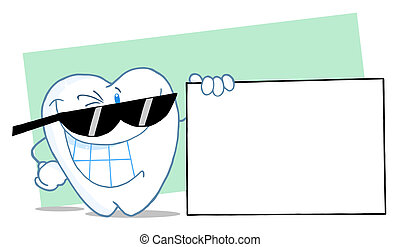 Happy Smiling Tooth Character