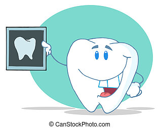Happy Tooth With An Xray
