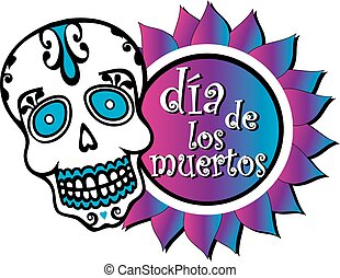 Day of the Dead Graphic Colorful - Colorful Day of the Dead...